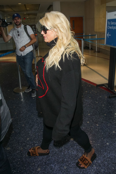Jessica Simpson At LAX International Airport