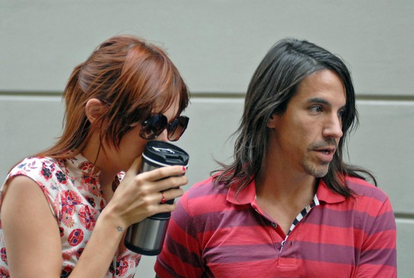Anthony Kiedis and Jessica Stam in Milan []