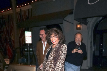 Joan Collins Percy Gibson Jennifer Meyer Outside Craig's Restaurant In West Hollywood