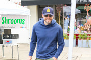 Joel McHale At Farmers Market In Studio City