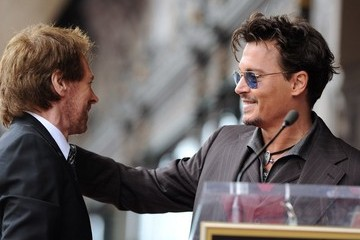 Johnny Depp Jerry Bruckheimer Jerry Bruckheimer Honored on the Walk of Fame — Part 3