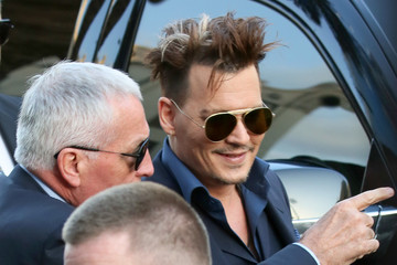 Johnny Depp Celebrities Arrive to the 'Alice Through the Looking Glass' Premiere