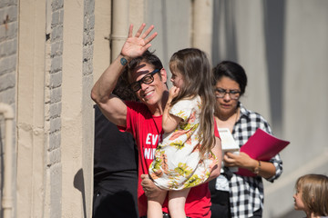 Johnny Knoxville Johnny Knoxville and Family at 'Jimmy Kimmel Live'