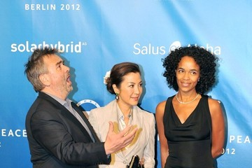 Michelle Yeoh Luc Besson Jolie and Pitt at Cinema for Peace Gala