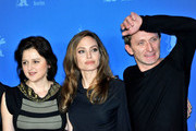 Angelina Jolie attends a photocall for her directorial debut, 'In the Land of Blood and Honey' during the 62nd Berlin International Film Festival.