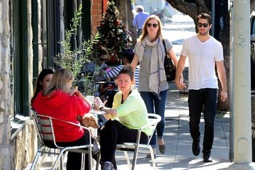 Josh Bowman Emily VanCamp and Joshua Bowman Take a Stroll