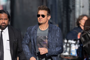 Jeremy Renner is seen at 'Jimmy Kimmel Live' in Los Angeles, California.