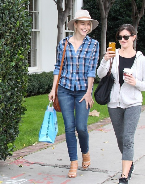 Julianne Hough Spotted in Hollywood