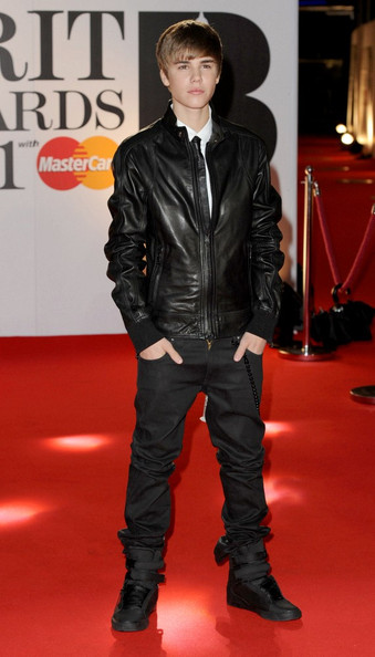 Justin Bieber The 2011 BRIT Awards held at The O2 Arena.