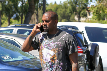 Kanye West Kanye West Goes Out in an Eagle Tee