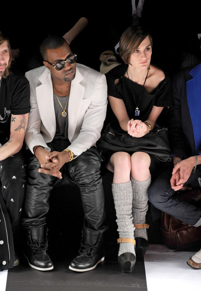 Kanye West Katy Perry stands out in the front row of the Jean-Charles de Castelbajac Ready-to-Wear Fall/Winter 2011 show at the Pavillon Concorde during Paris Fashion Week.