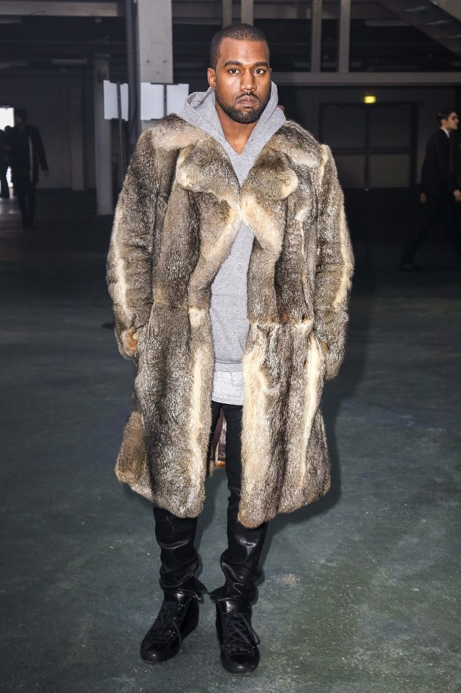 Kanye West Arrives at the Givenchy Runway Show