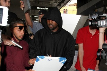 Kanye West Kanye West at LAX