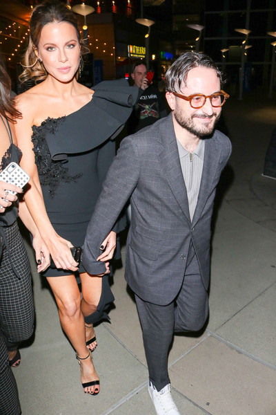 Kate Beckinsale Is Seen Outside 'The Dirt' Premiere At Arclight Theatre In Hollywood