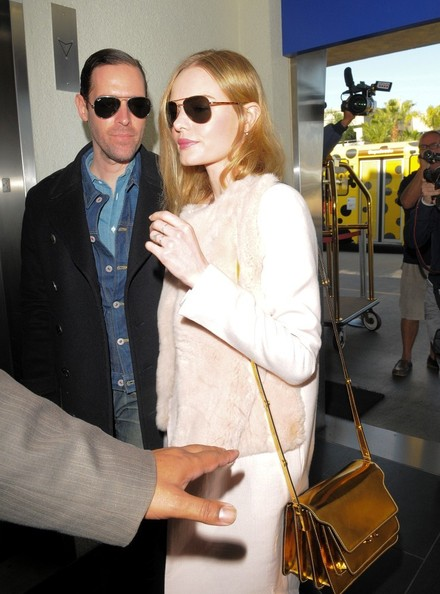 Kate Bosworth - Kate Bosworth and Michael Polish at LAX