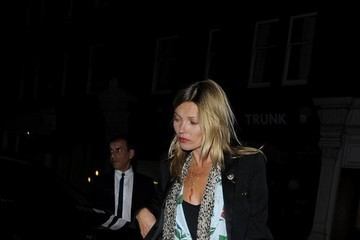 Kate Moss Celebs Leave Chiltern Firehouse