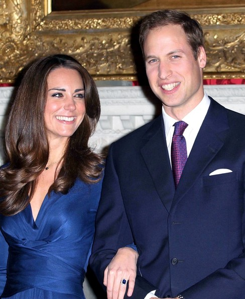 Prince William and Kate Middleton at St. James Palace