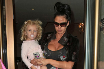 Princess Tiaamii Andre Katie Price and Her Daughter Leave the Mayfair Hotel