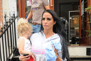 Katie Price is seen leaving the North London dance studio with her daughter Princess Tiaamii Crystal Esther Andre (b. June 2007).