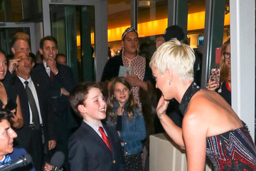 Katy Perry Iain Armitage And Katy Perry Outside Ahmanson Theatre In Los Angeles