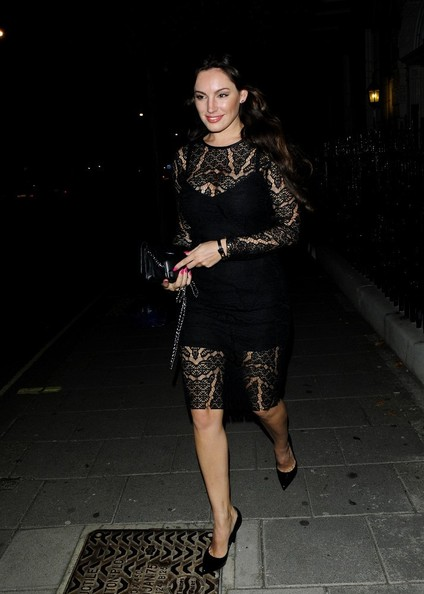 Kelly brook lace dress