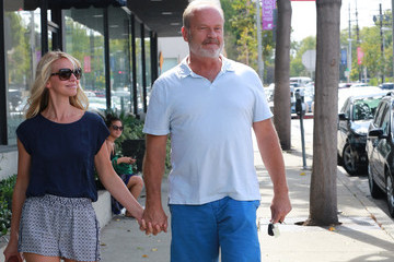 Kelsey Grammer Kelsey grammer and wife Kayte stroll hand-in-hand in shorts