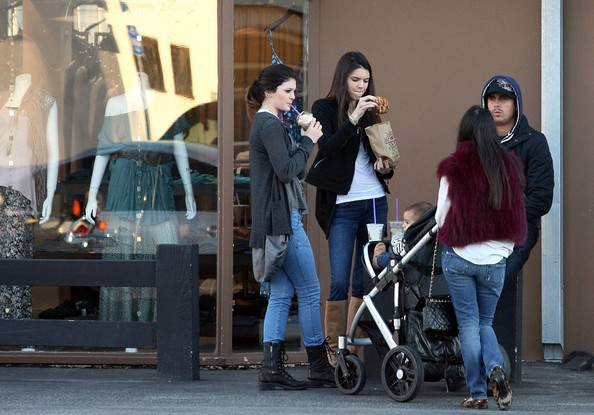 Kendall Jenner Part of the Kardashian brood out in Malibu, including Kourteney, husband Scott Disick and their baby Mason Dash, with Kyle and Kendal Jenner.