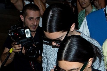 Kendall Jenner Kim Kardashian and Kendall Jenner at LAX