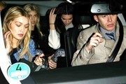 Kendall Jenner and Gigi Hadid leave an H&M event in Paris.