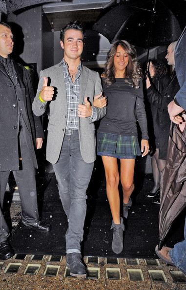 Kevin Jonas Kevin Jonas and his wife Danielle Deleasa seen leaving the Nobu Berkeley after enjoying a romantic dinner.