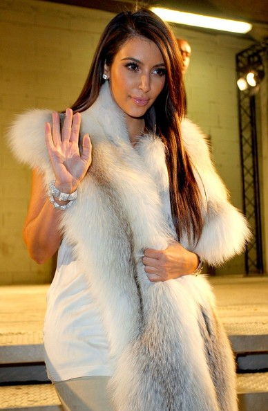 Kim Kardashian - Celebs at Kanye West's Fashion Show