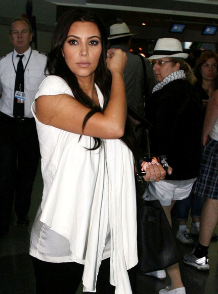 Kim Kardashian Kim Kardashian arrives at JFK International Airport   .