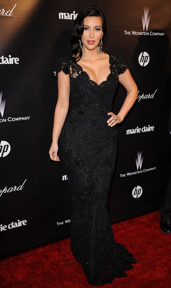 Kim Kardashian - The Weinstein Company 2012 Golden Globes Party