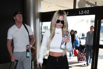 Kim Zolciak Kroy Biermann and Kim Zolciak at LAX