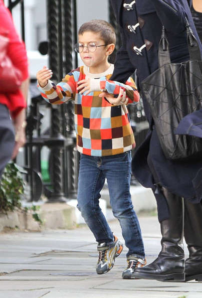 Kingston Rossdale Gwen Stefani is seen returning to her North West London home, with her eldest son Kingston (b. May 26, 2006). Kingston was looking the spit of his father Gavin Rossdale, and appeared to be wearing a new pair of glasses.