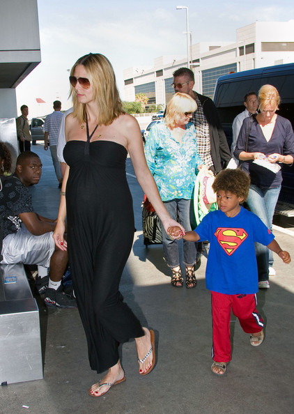 heidi klum seal. Heidi Klum and Seal Depart LAX