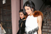 Kourtney Kardashian and Kylie Jenner are seen enjoying a night out at Night Guy Nightclub on February 4, 2016.