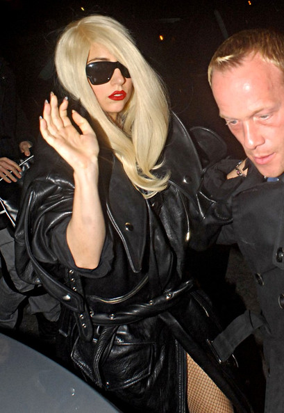 Lady Gaga, left her hotel to join a tour bus that was waiting for her in Shepherds Bush.