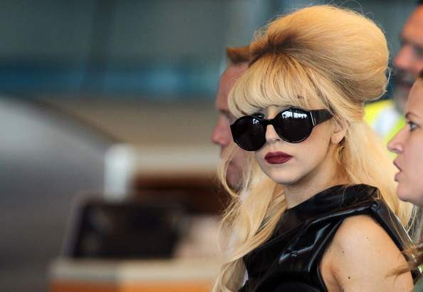 Lady Gaga's studded departure