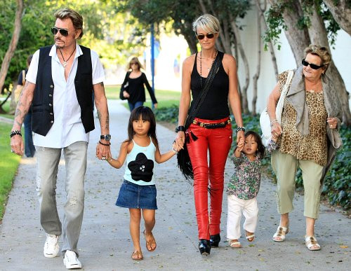 Photo of Johnny Hallyday & his  Daughter  Joy Hallyday