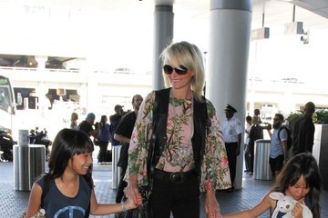 Laeticia Hallyday Johnny Hallyday and Family Seen at LAX