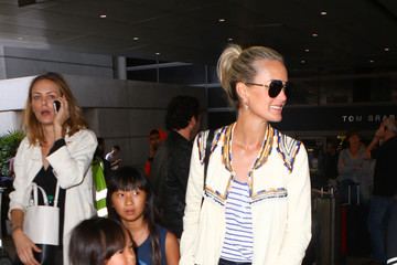 Laeticia Hallyday Laeticia Hallyday and Her Family Are Seen at LAX