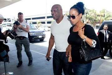 Lakiha Spicer Mike Tyson and Lakiha Spicer Leave LA