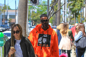 Lance Gross Lance Gross and Rebecca Jefferson Enjoying a Sunny Day In Beverly Hills