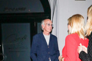 Larry David Outside Craig's Restaurant In West Hollywood