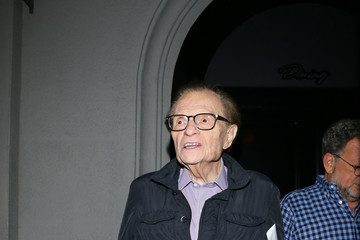 Larry King Larry King Hits Craig's Restaurant in Beverly Hills
