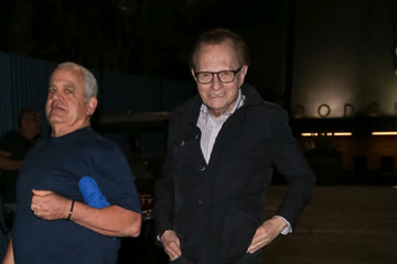 Larry King Celebrities at the NLCS at Dodger Stadium