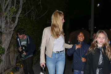 Leni Samuel Heidi Klum Arrives at Matsuhisa Restaurant