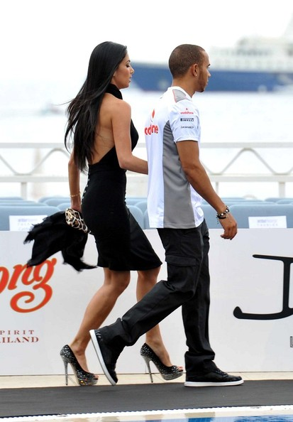 Lewis Hamilton - Nicole Scherzinger and Lewis Hamilton at the Beach Plaza Hotel