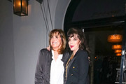 Linda Gray and Joan Collins are seen in Los Angeles, California.